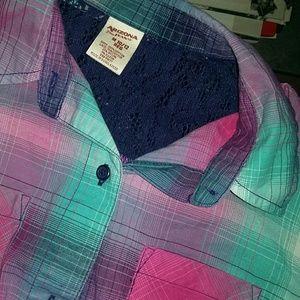 Girls button down long sleeve shirt